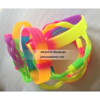 Quality Cheapest Rainbow silicone bracelets, rainbow color rubber wristbands for sale