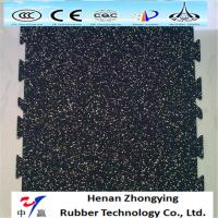 China Anti-slip wear resistant colored EPDM rubber flooring recycled gym rubber floor mat on sale