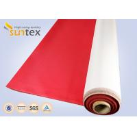 China Fireproof High Temperature Resistant Durable Polyurethane Coated Fiberglass Fabric Cloth on sale