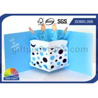 China 3D Pop Up Birthday Cake Birthday Cards Greeting Cards Printing , Printable Greeting Cards on sale