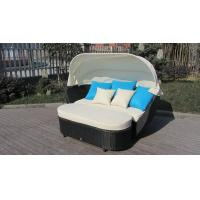 Quality Roofed Outdoor Rattan Daybed , Wicker Conservatory Furniture for sale
