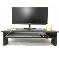 Quality PVC Laminated Computer Monitor Stand Adjustable Heights With Storage Shelf for sale