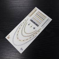 Quality Hot sales metallic body temporary tattoo sticker for sale