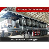 Quality 40 Foot High Bed Semi Trailer With 4 Axles For Carry Container , Cement Bags With Warranty for sale