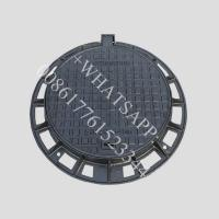 China Circular drain covers access ductile casting iron manhole cover and frame on sale