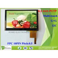 Quality 4.3 Inch I2C Multi Touch Industrial Touch Panel , Projected Capacitive Touch Screen for sale