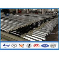 Quality Low Voltage tapered steel pole , galvanized metal posts with Bituminous Painting for sale