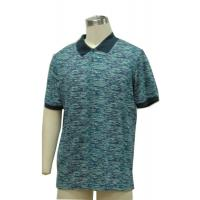 China Fitted Mens Patterned Polo Shirts , Classic Polo Solid Color T Shirts 100% Cotton Slub Yarn on sale