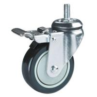 Quality threaded stem PU casters for sale