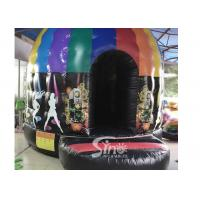 China Kids N adults inflatable music disco dome bouncy castle with light hooks on top for outdoor N indoor parties on sale