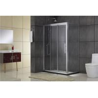Quality Simple Aluminum Alloy Quadrant Shower Enclosures Tempered Glass For Villa for sale