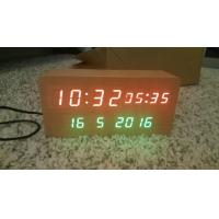 wood alarm azan clock quran speaker on table clock inside 8GB TF card Arabic languages with IR control