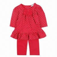 Quality 100% Cotton Baby Clothing Set, Minimum Order Quantity of 20 Pieces for sale