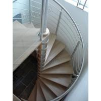 Quality stainless steel round bar timber oak trade best-selling spiral staircase for sale