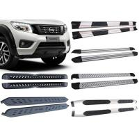 Quality Black And Silver Vehicle Running Boards For 2015 2018 Nissan Navara Pick Up for sale