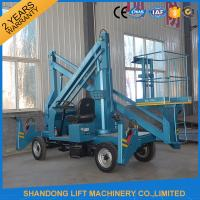 Quality Commercial Hydraulic Articulated Trailer Boom Lift Rental , 8m Rotating Truck Mounted Aerial Lift for sale