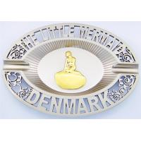 Quality Metal ashtray,premium zinc alloy ashtray with 3D logo gold plated for sale