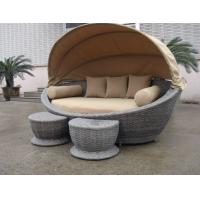 Buy cheap Luxury Comfortable Roofed Cane Daybed , Wicker Garden Oval Daybed from Wholesalers