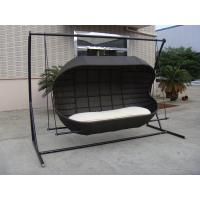 Quality Luxury Fashion 2 Seat Poly Rattan Swing Chair For Beach / Office for sale