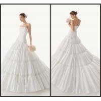 Quality Strapless ball gown taffeta wedding gown for sale
