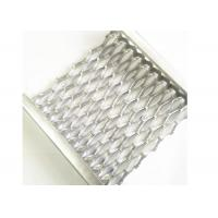 Quality Aluminum Safety Grip Strut Grating Walkways , Crocodile Mouth Anti Slip Metal Plate for sale