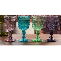 Quality Height 16.5cm Crystal Solid Coloured Wine Glasses / Purple Champagne Glass Cups for sale