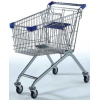 Quality 120KG Capacity Supermarket Wire Shopping Trolley , Grocery 4 Wheel Shopping Trolley for sale