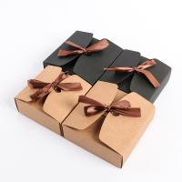 China Whitecard Kraft Paper Gift Boxes With Ribbon on sale