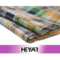 Quality Face Side Checks Reverse Side Solid Double Layer 100 Cotton Check Fabric for sale