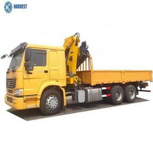 China 371hp Engine Sinotruk Howo 6x6 10 Ton Knuckle Boom Crane Truck on sale