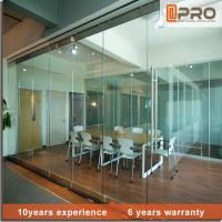 China Soundproof Modern Office Partitions With Aluminum Alloy And Glass Door Material on sale