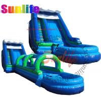Quality inflatable quality water pool slip and slide for sale