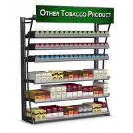Quality 4FT LP 480 Packs Cigarette Display Rack Tobacco Fixtures Powder Coated Frame for sale