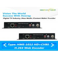 Quality MPEG-4 AVC / H.264 HDMI CVBS Video Digital TV Encoder Support Web Protocol for sale