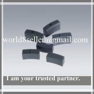 Sintered arc segment ferrite magnets