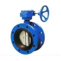 Quality Double Flanged Cast Steel Butterfly Valve Adjust Tightness With Hand Wheel Dn50 - Dn400 for sale