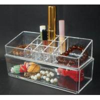 Quality Clear Crystal Plastic Acrylic Makeup Case Jewellery Box for sale