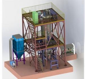 China Aluminum Powder Plant Metallurgy Machinery 0-200 Micron Under 1000ppm Oxygen Content on sale