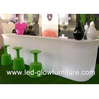Quality Modern Coffee House and night clubs LED glow furniture cocktail table RGB LEDs for sale