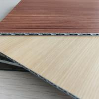 Quality Wood Grain Aluminum Core Panel Light Weight Fireproof Length 2400mm Customzied for sale