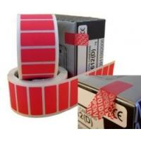China Non Residue Void Sticker Label , Single Sided Tamper Proof Labels on sale