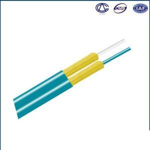 Quality Indoor Armored Fiber Optic Cable Aramid Fiber Figure 8 OM1 OM2 OM3 for sale