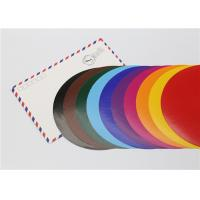 Quality Lick - To - Stick Colored Paper Circles , Glossy Construction Paper Circles for sale