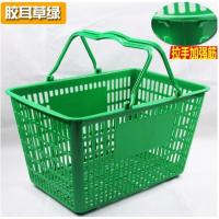 Quality Retail Store Plastic Hand Basket / Supermarket Food Plastic Basket With Handle for sale