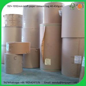 Quality BMPAPER High Quality Brown Kraft Liner Paper/Kraft Paper/Kraft Paper Roll  for cement bags for sale