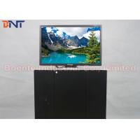 Quality 19 Inch Conference Room Tabletop LCD Monitor Screen Motorized Pop Up Lift 110V ~ 240V for sale