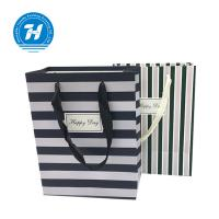 Quality Fancy Custom Printed Merchandise Bags Craft Rope Handle Unique Design for sale