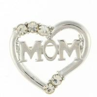 Quality Mother's Day best gift heart crystal brooch TJ0105 for sale