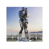 Quality Square Decoration Modern Stainless Steel Sculpture Metal Lover Sculptures for sale
