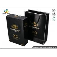 Quality Drawer Type Paper Wine Box Excellent Scratch Resistance For Hennessy X.O for sale
